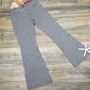 Vintage Tommy Hilfiger striped bell bottom jeans 9